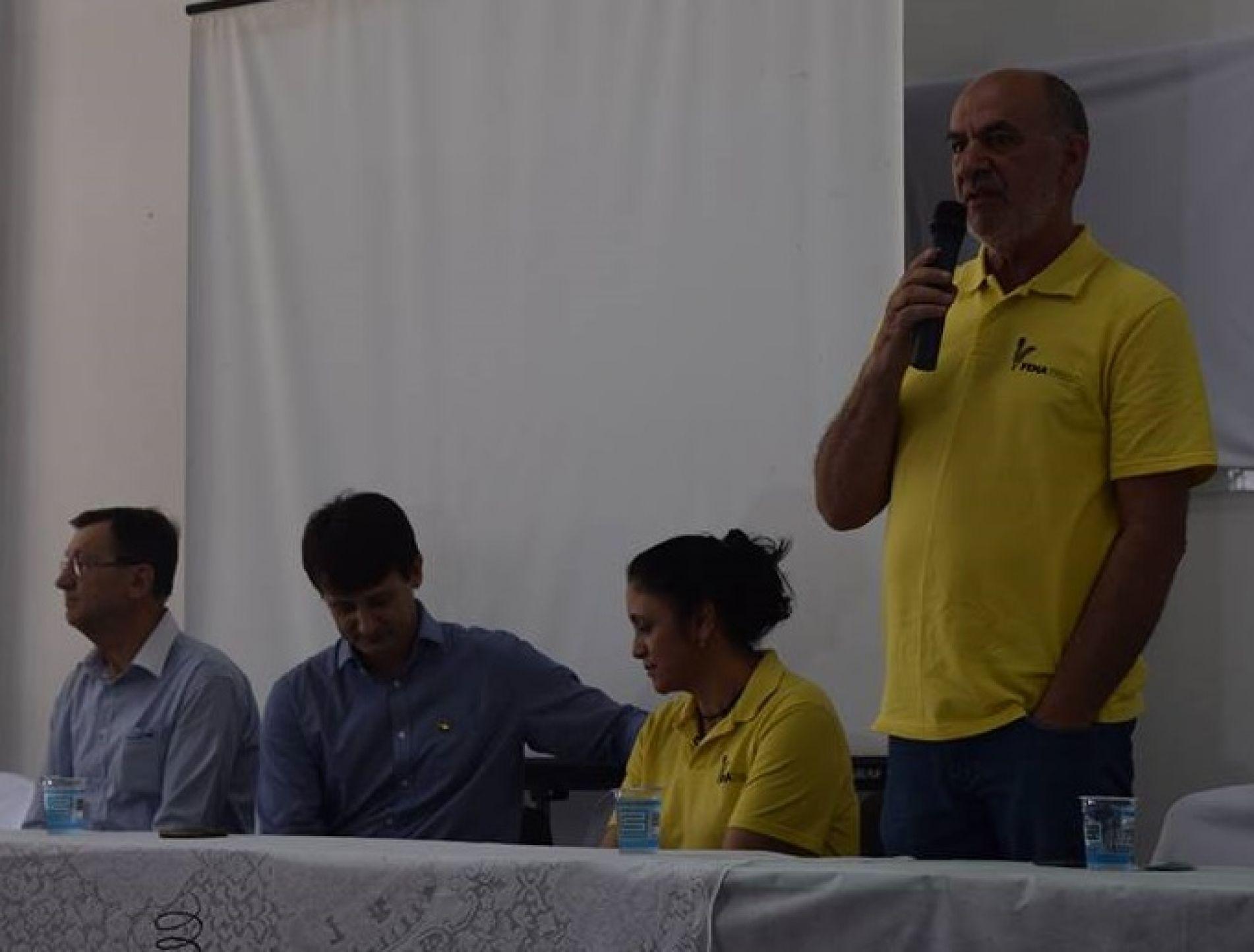 Presitente João Paulo Ribas Reis Fala na abertura do evento