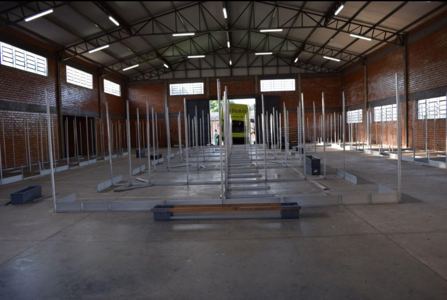 XIII Fenatrigo: Estrutura dos estandes já está sendo montada